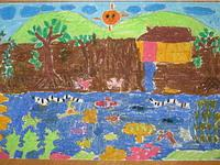 School camp drawing competition winning entry