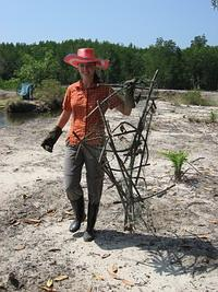 Fish trap found in the mangroves