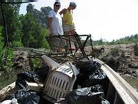 Mountain of marine debris