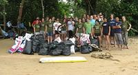 Beach clean up at AoNamMao