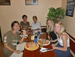Staff and volunteer pizza night