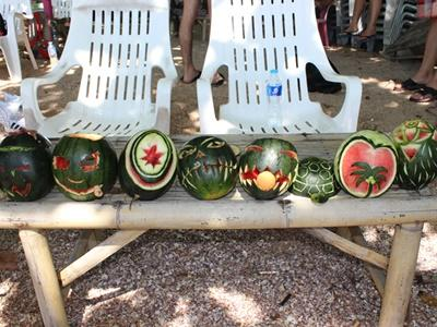 Halloween watermelons at a Projects Abroad Thailand social event