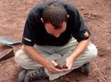 Volunteer at Tambo Cancha excavation