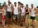 Volunteers at the project site