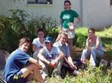 Volunteers helping with clean-up