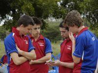 Simon Walker devising the team