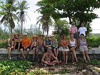 Volunteers after a beach clean up