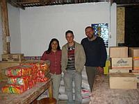 Yannick and Tim with donations