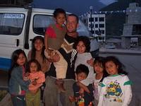Supervisor Daniel with local children