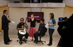 Appearing on Bolivian TV