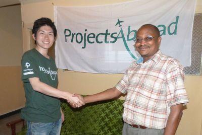 One of our first volunteers in Kenya