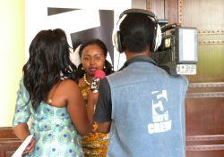 Interview after the ceremony