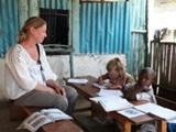 Family volunteers together on Care Project in Kenya