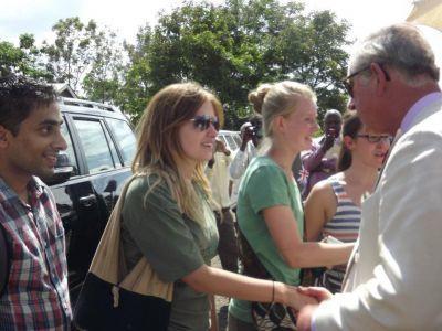 Prinz Charles begrüßt unsere Freiwilligen