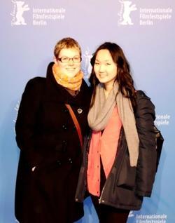 Stephanie und Nyamka bei der Berlinale