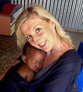 Daniela im Kinderhort in Kapstadt