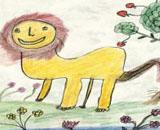 """Indische Waisenkinder illustrieren zweisprachiges Kinderbuch """"Der stolze Löwe - The Proud Lion"""""""