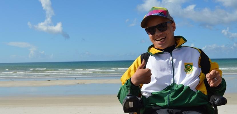Behindertensportler Ashtan in Südafrika