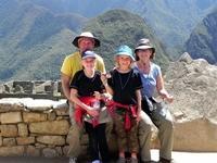 Familie på volontørophold i Peru