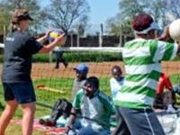 Stinna trænede handicappede unge i Kenya