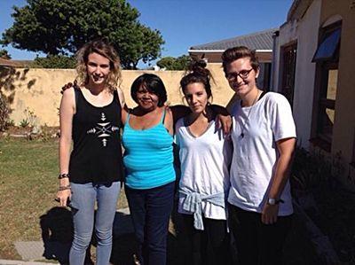 Frivillig og værtsfamilie i Cape Town
