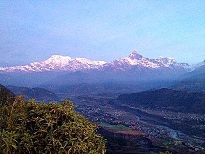 Et af Nepals smukke bjerge