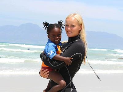Sofie, Surfing og Sydafrika