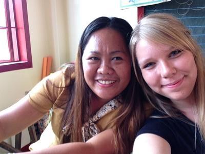 Kirstine og Jocelyn, lærerkollegaer