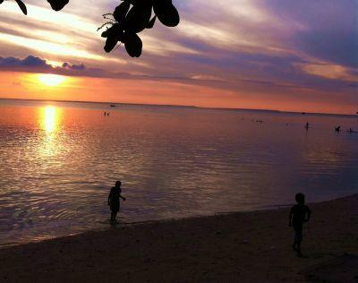 Smuk udsigt fra strand i Filippinerne