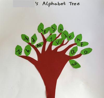 Alfabet træ fra læseprogrammet i Belize