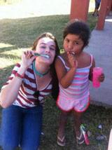 A Lesson in Dental Hygiene at a Care Project in Argentina