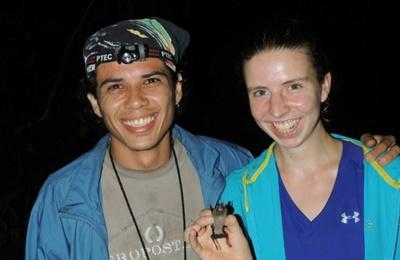 Kathleen Wilson volunteers with animals on Conservation in Costa Rica