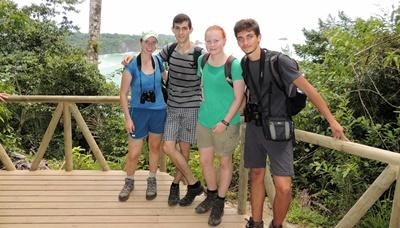 Kathleen Wilson spends time with other Conservation volunteers in Costa Rica