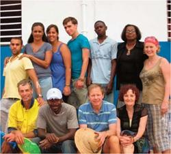 Les volontaires du projet Jamaïque