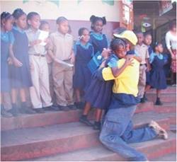 Remerciements des enfants Projet Jamaïque