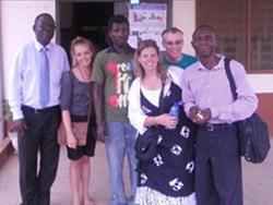 Kweku et l'équipe Droits de l'Homme au Ghana