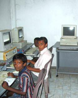 Centre informatique au Sri Lanka