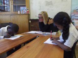 Mission d'alphabétisation en école primaire à Capetown