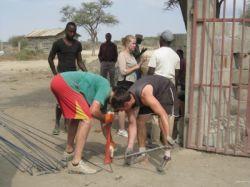 volontaires mission Construction