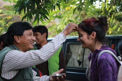 Accueil d'une volontaire au Népal