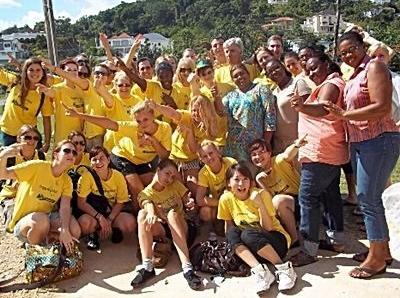 Groupe de jeunes étudiants en Jamaïque