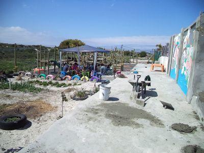 Site du chantier construction en Afrique du Sud