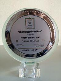 Andrea Natali, volontario sportivo in Ecuador con Projects Abroad, è stato premiato al Gran Galà dello Sport Italiano