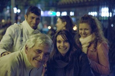 I volontari del progetto di Diritti Umani in Argentina durante un'attività di sensibilizzazione a Cordoba