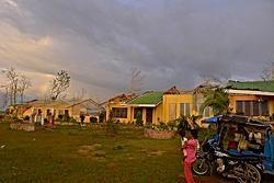 BEFORE 台風の被害を受けた直後の学校