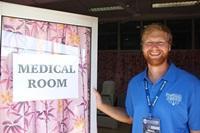 理学療法ボランティアがラグビーサモア代表の医療スタッフとして参加