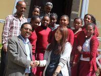 エチオピアの学校に教材や本を寄付しました