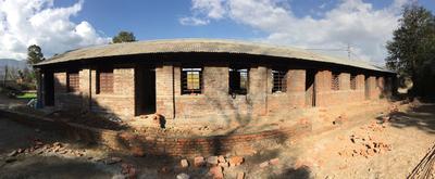 ネパール大地震復興支援プロジェクト 教室の完成