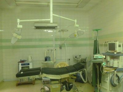 Een ziekenhuis in Ghana tijdens medisch project.