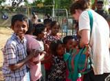 Volunteer with Children in a Care Centre